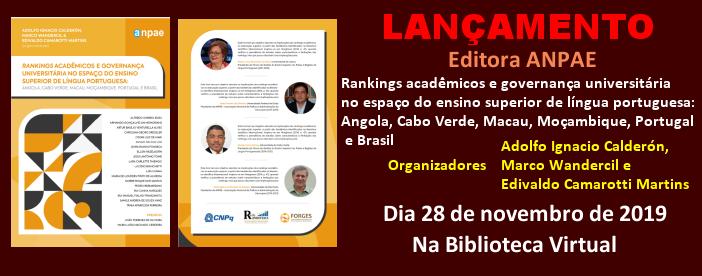 LANÇAMENTO DA EDITORA ANPAE